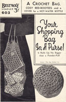 vintage string bag crochet pattern 1940