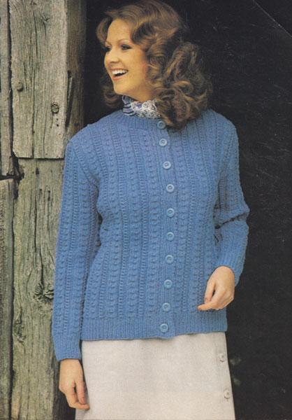 ladies vintage aran knitting pattern patons 154