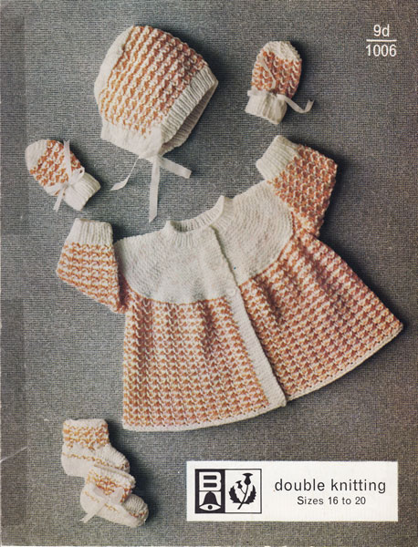 Vintage Knitting Patterns Baby 44