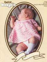 vintage baby dress knitting patterns