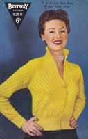 vintage ladies 1950 vintage knitting pattern for ladies flick collor cardigan