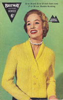 vintage ladies knitting pattern 1950s cardigan