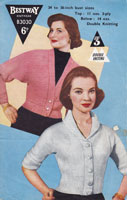 vintage ladies 1950s cardigan double knitting patterns