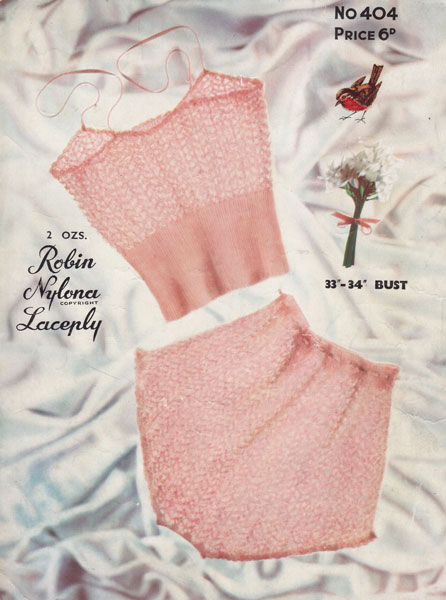 Knitting Pattern For Underwear : vintage ladies underwear knitting pattern 1950s