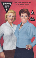 1950s fuller figuare 40 inch bust ladies knitting patterns