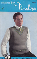 vintage mans knitting pattern for fair isle jumper 1940s