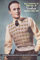 vintage mens fair isle jumper knitting pattern 1940s
