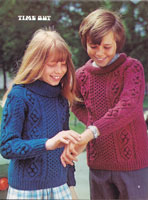 vintage child aran jumper 1973 vintage knitting patterns