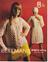 vintage aran knitting pattern fro dress and coat