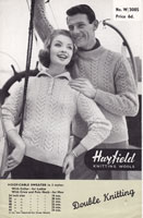 vintage aran jumper for lady or gent knitting patterns