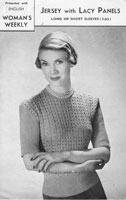 vintage ladies jumper knitting pattern from magazine 1940s
