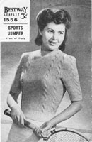 vintage knitting pattern for ladies jumper