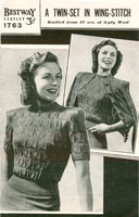 vintage ladies knitting pattern for jumper