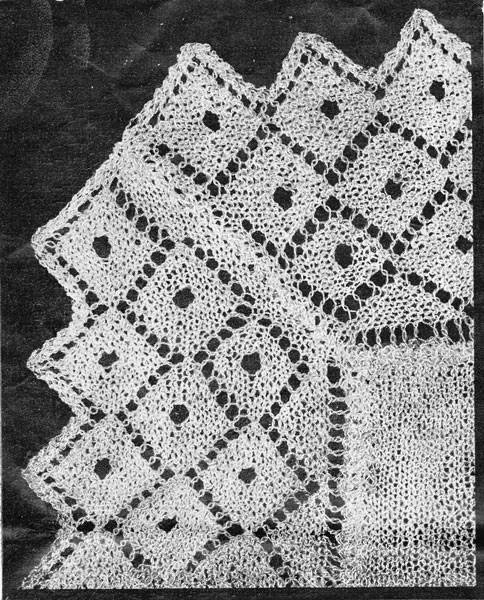 Vintage Shawl Knitting Patterns : vintage baby shawl knitting patterns