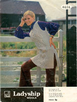 Vintage Ladies Aran Knitting Pattern