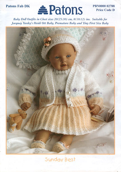 Patons Knitting Patterns For Dolls Clothes : Modern knitted dolls clothes patterns available from The ...