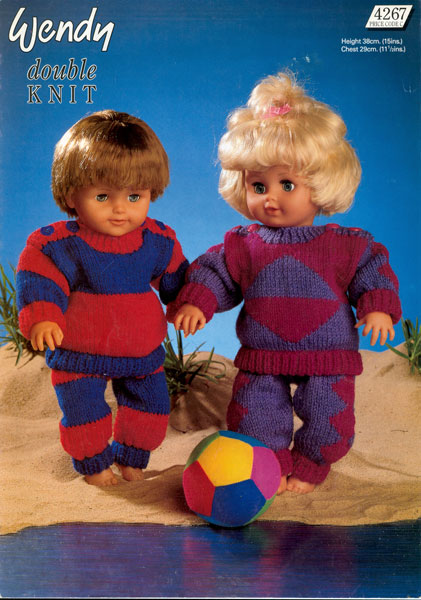 Wendy Knitting Patterns For Dolls : Modern knitted dolls clothes patterns available from The ...