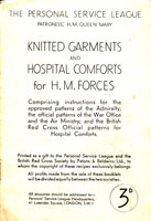 vintage services knitting patterns WW2 1940