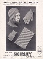 vintage knitting patterns fopr the services in ww2 1940's