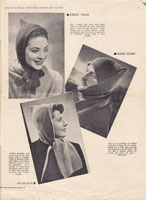 vintage wartime knitting pattern 1940's