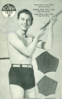 vintage boys knitted swim trunks pattern