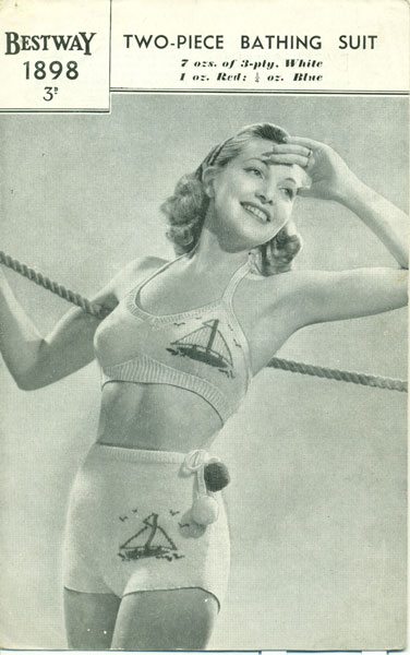 f92b06a8d98be Ladies Swimwear Knitting patterns available from The Vintage ...