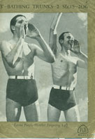 Mens Vintage Swimwear Knitting Pattern