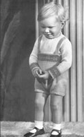 vintage knitting pattern for boys buster suit for 1-2 years from 1940s