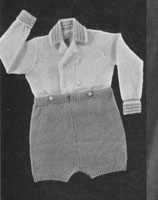 vintage buster suit knitting pattern from 1940s