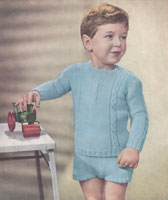 vintage buster suit kmnitting pattern from 1940s