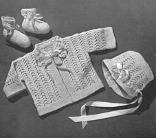 vintage 1940s matinee set knitting pattern