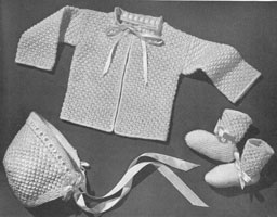 vintage matinee set knitting pattern from 1940s