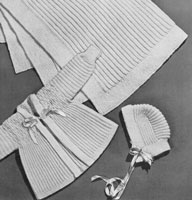 vintage baby matinee and blanket knitting pattern from 1940s