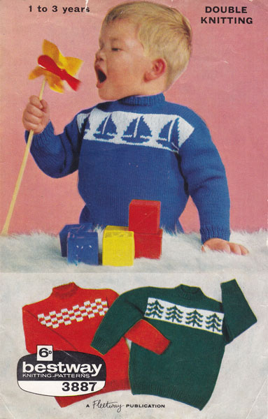 Vintage Babies and Childrens Fair Isle knitting patterns available ...