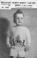 vintage jumper hunmptydumpty intarsia fair isle 1940s