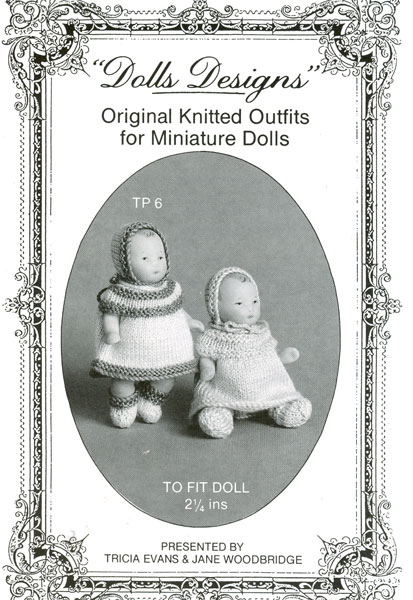 Knitting Patterns For Dolls Houses : Vintage knitted dolls house dolls clothes patterns available from The Vintage...