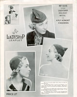 1930's knitted ladies hats patterns