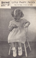 vintage baby knitting pattern for dress Bestway
