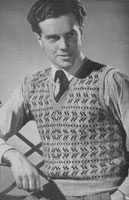 vintage mens fair isle knitting patterns 1949