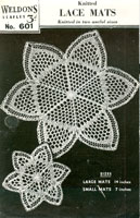 vintage knitted mat pattern