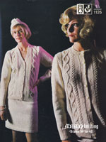 vintage aran knitting pattern ladies cardigan