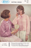 kiapoi vintage knitting pattern ladies bedjacket 1960s