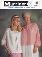 vintage knitting pattern ladies bedjacket