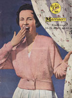 vintage ladies bed jacket knitting pattern 1950s marriner 460