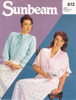 bedjacket vintage knitting pattern