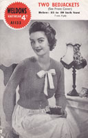vintage weldons bed jacket knitting pattern ladies vintage knitting pattern weldons a1133