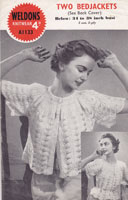 vintage ladies bed jacket knitting pattern 1940s