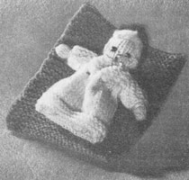 vintage knitted toy 1954