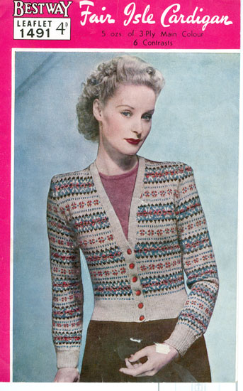 Vintage Ladies Fair Isle knitting patterns available from The ... fca1c6d24