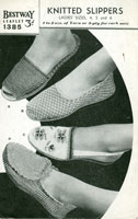 Ladies Knitted Slippers Vintage Knitting Pattern